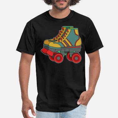 Best 80s Movies Classic & Cool Tshirt Design Roller Blades - Men's T-Shirt