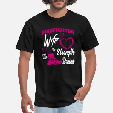 afaca1402 Firefighter Couple Firefighter Wife T Shirt - Men's ...