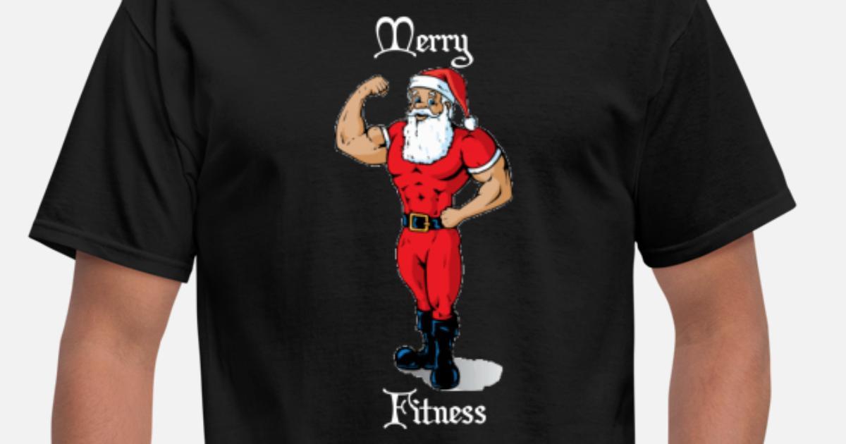 Merry Fitness Buff Santa Christmas Shirt Men S T Shirt