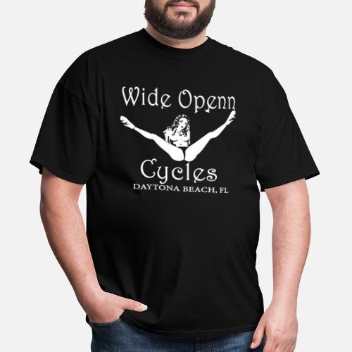 56e04f899dc2e8 Wide open cycles daytona beach fl skull Motorcycle Men s T-Shirt ...