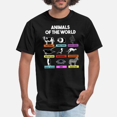 Flap Animals of The World - Men's T-Shirt