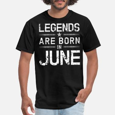 Kings Are Born In June Black T-shirt BIRTHDAY SHIRTS TEES