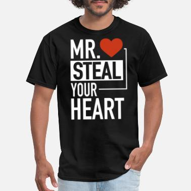 Guard Your Heart Cute Mr Steal Your Heart Valentine s Day - Men's T-Shirt