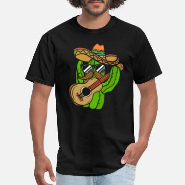 Mexican cactus mexican gift fun drink night party - Men's T-Shirt