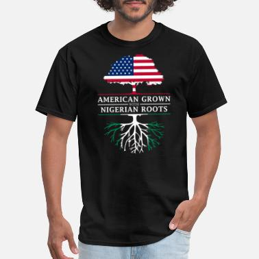 Nigerian Design American Grown with Nigerian Roots Nigeria Design - Men's T-Shirt