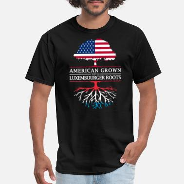Luxembourg American Grown with Luxembourger Roots Luxembourg Design - Men's T-Shirt