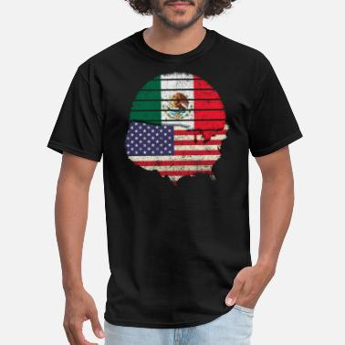 Mexican Green Mexican American Flag Mexican American Pride Design - Men's T-Shirt