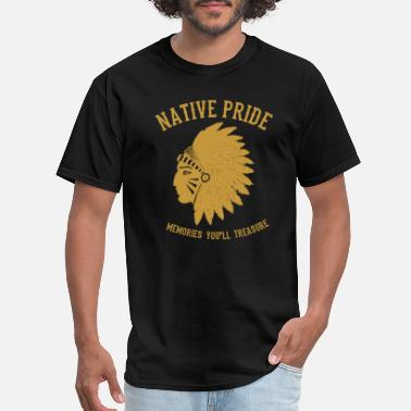 Even-toed Ungulates Native American - Men's T-Shirt