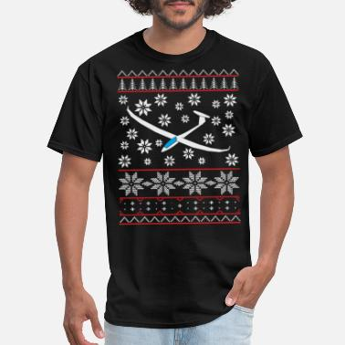 Christmas glider pilot gliding soaring gift sweate - Men's T-Shirt