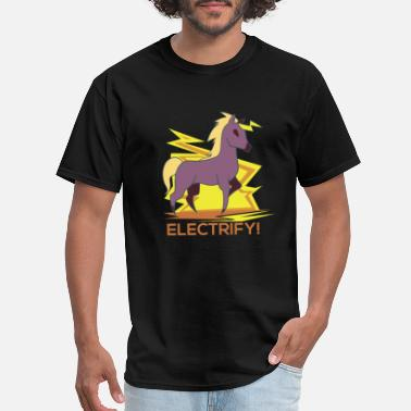 Young Entrepreneur Electrify Unicorn Tee Watt Volt Shirt Gift Idea - Men's T-Shirt