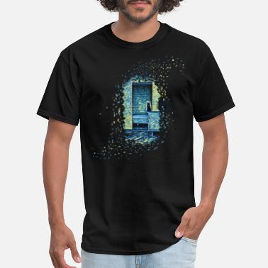 Nasa Starry Night Cats of Expressionism - Men's T-Shirt