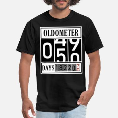 50 Mothers Day oldometer 0 45 90 days 50 years old made in birthd - Men's T-Shirt