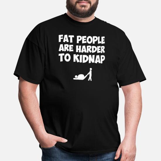 Funny disant Fat People Sweat à Capuche Sweat-shirt Pour Hommes bigmen taille vêtements