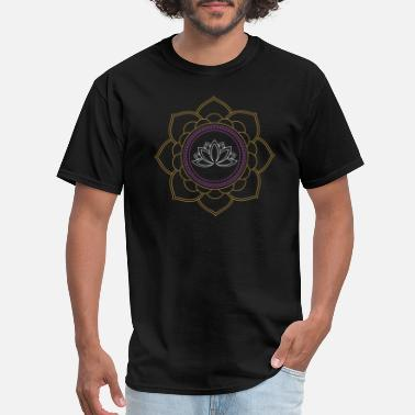 Om Flower Lotus Flower Om Meditation - Men's T-Shirt