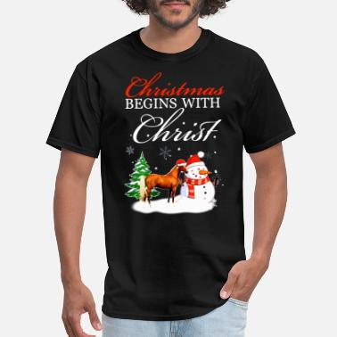 My Niggas christmas begins with christ friend funny festival - Men's T-Shirt