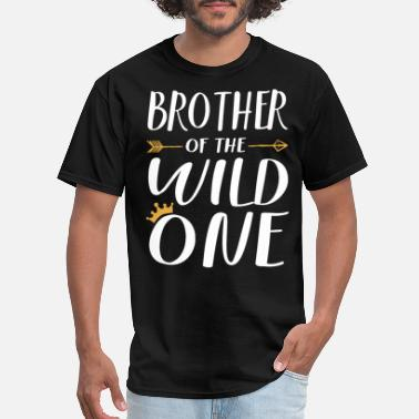 I Love My Nephew kids funny brother of the wild none thing 1st birt - Men's T-Shirt
