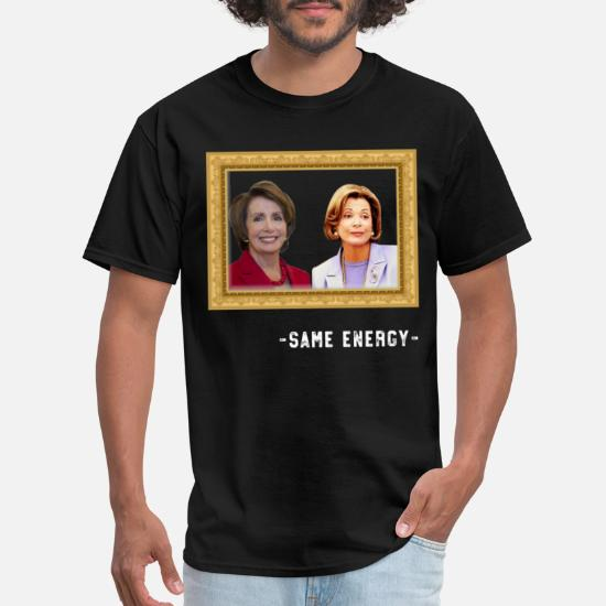 Nancy Pelosi Clap Anti Trump Flag Funny Black T-shirt S-6XL