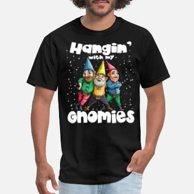Snowing Hanging with my Gnomies Gnome Ugly Christmas Lefse - Men's T-Shirt