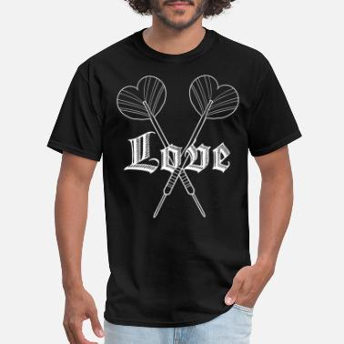 Text Sayings Dart Love texting message sayings - Men's T-Shirt