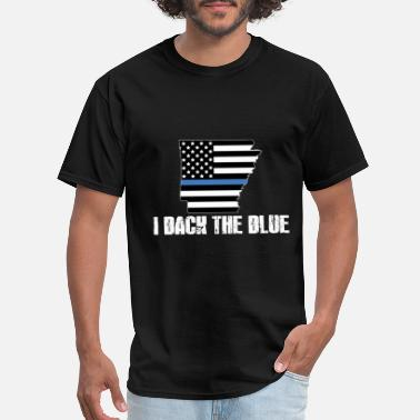 Support Arkansas Police Appreciation Thin Blue Line I - Men's T-Shirt