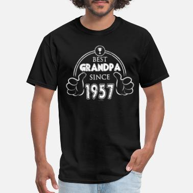 The Best Of 1957 Best Grandpa 1957 Grandfather Shirt - Men's T-Shirt