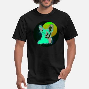 Hairless Cat Sphynx Cat Shirt Disco Hairless Cat T Shirt Neon Kitten - Men's T-Shirt