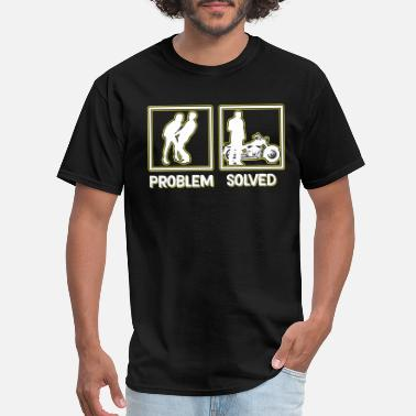 11b1c4343 Vulgar Hilarious Problem Solve Tshirt Design Motor bike - Men's ...