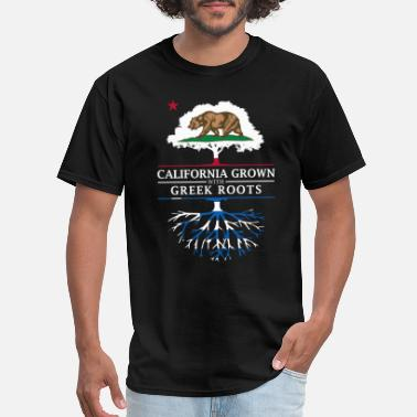 Greek Heritage California Grown with Greek Roots - Men's T-Shirt