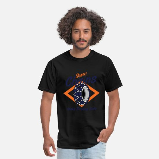 Gift Idea T-Shirts - Snow Chain Tires Winter Holiday Gift - Men's T-Shirt black