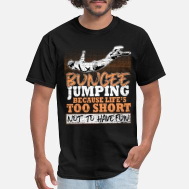 Rubber Rope Bungee Jumping Fun - Men's T-Shirt