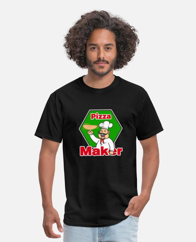 Pizza T-Shirts - Pizza Maker (design for Pizzaiolo and pizza chef) - Men's T-Shirt black