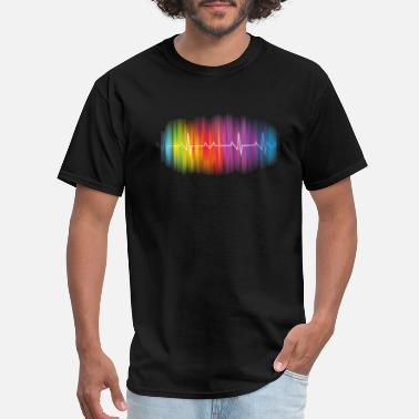 Gay Pulse Gay Pride - Gay Rainbow Pulse - Men's T-Shirt