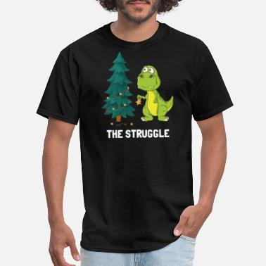 Struggle Dinosaur Christmas Tree Struggle - Men's T-Shirt
