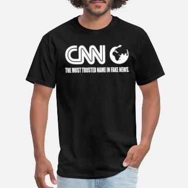 Cnn Fake News CNN Fake News Network Funny Tabloid Lying Corrupt - Men's T-Shirt