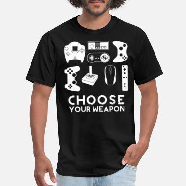 Typical Gamer Choose your weapon gamer video game controller tee - Men's T-Shirt