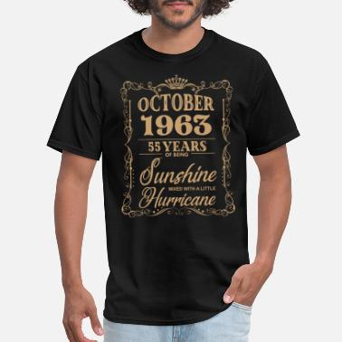 October 1963 october 1963 55 years of being sunshine birthday t - Men's T-Shirt