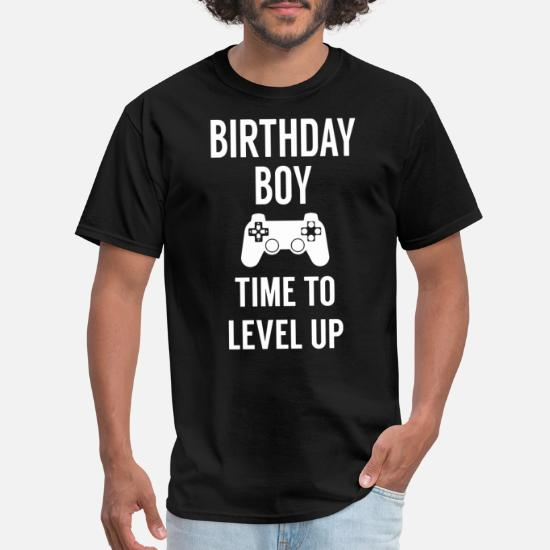 9e24ef8e5 birthday boy time to level up birthday party photo Men's T-Shirt ...