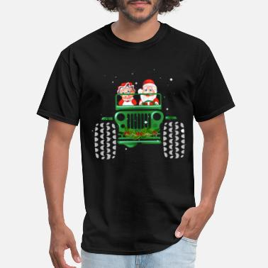 jeep car merry christmas love heart december festi - Men's T-Shirt