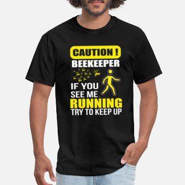 King Beekeeper funny Caution Honey Bee Gift idea - Men's T-Shirt