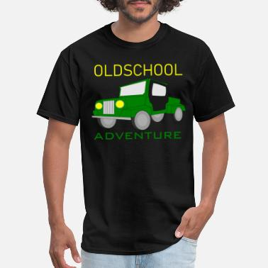 National Geographic Oldschool Adventure - gift sport car offload - Men's T-Shirt