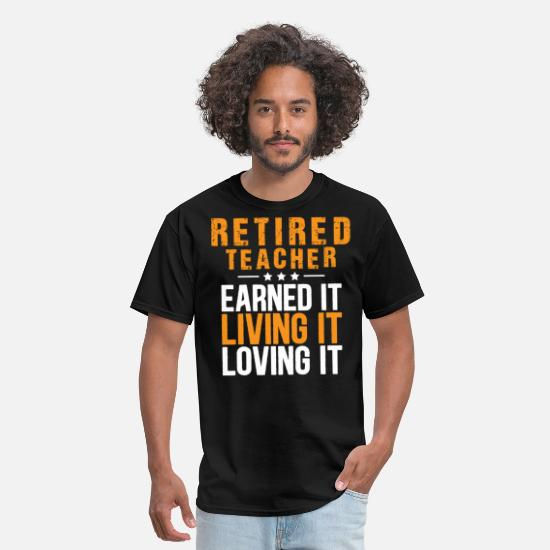 Funny T-Shirts - Retired Teacher T-Shirts - Men's T-Shirt black