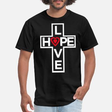 Hope Love Hope Heart 2 - Men's T-Shirt
