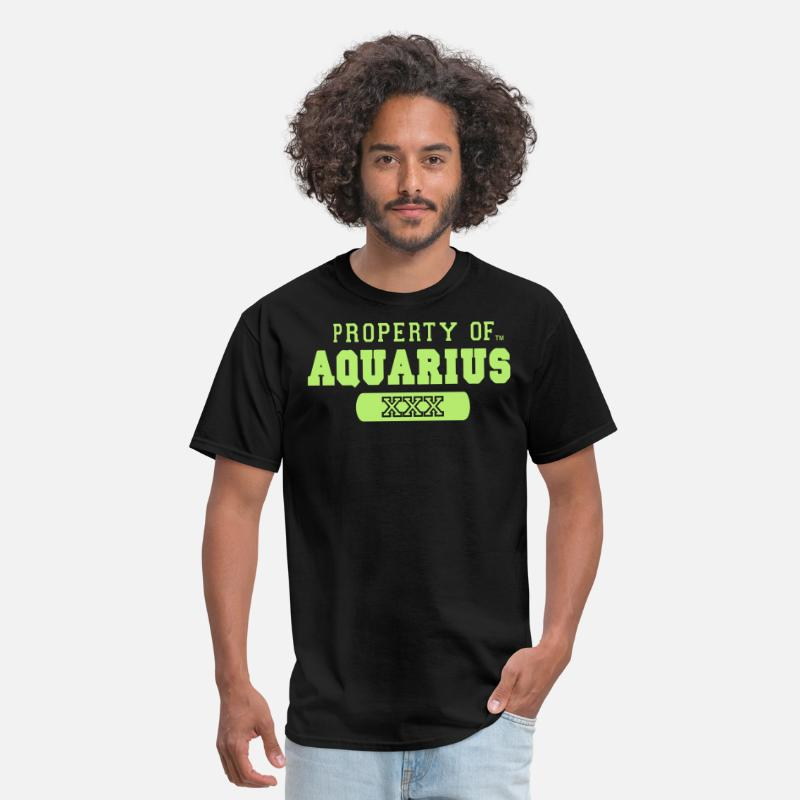Hip Hop T-Shirts - PROPERTY OF AQUARIUS - Men's T-Shirt black