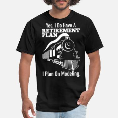 Model Model Train Funny Gift - Men's T-Shirt