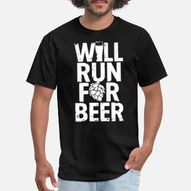 Canadian Drinking will run for drink stronger man woman black beer - Men's T-Shirt