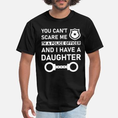 July 4th police officer and i have a daughter - Men's T-Shirt