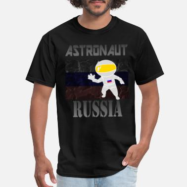 Russian Cartoon Russian Astronaut - Men's T-Shirt
