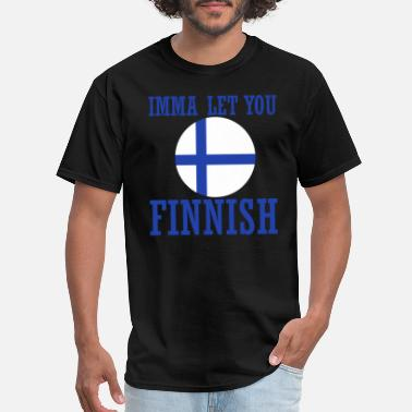 Vacation Country Finland flag country cope vacation funny - Men's T-Shirt