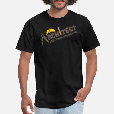 Under Construction architect - i fight zombies in my spare time. - Men's T-Shirt