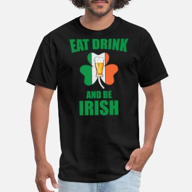 Gnome St. Patricks Day - Eat Drink and be Irish shirt - Men's T-Shirt